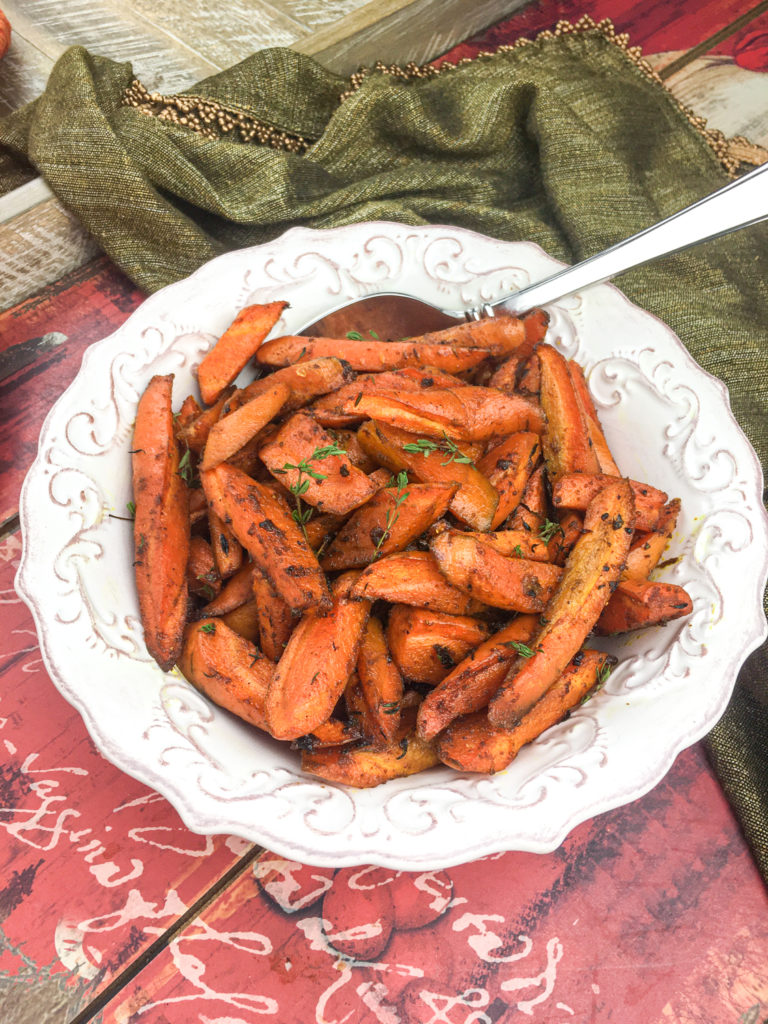 Sheet Pan Roasted Curried Carrots