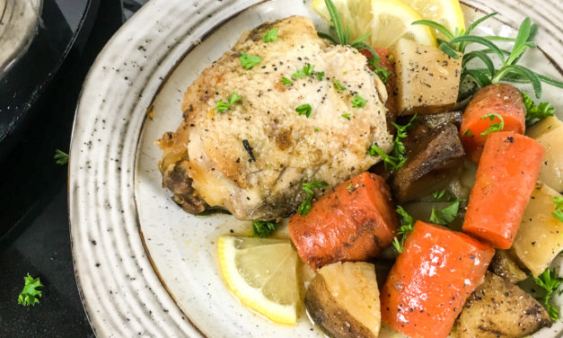 Slow Cooker Rosemary Lemon Chicken Thighs