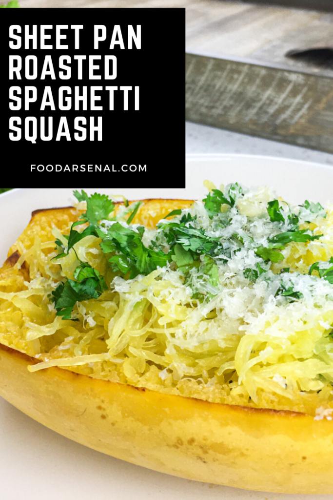 Sheet Pan Roasted Spaghetti Squash