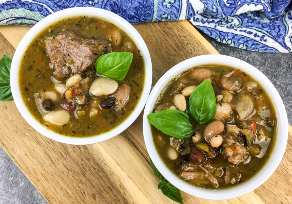 Hearty 15 Bean Soup with Pork
