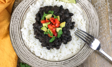 Instant Pot Cuban-Style Black Beans and Rice