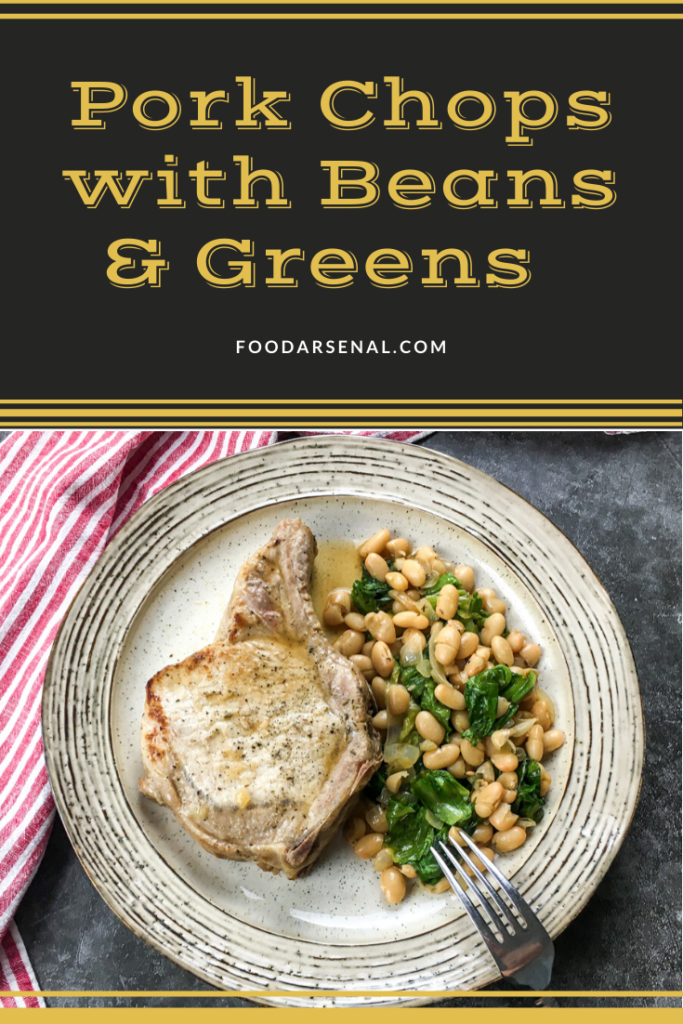Pork Chops with Beans and Greens